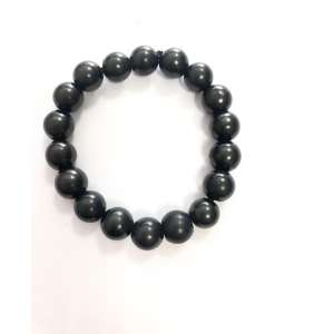 Bracciale con perline 10 mm in Shungite